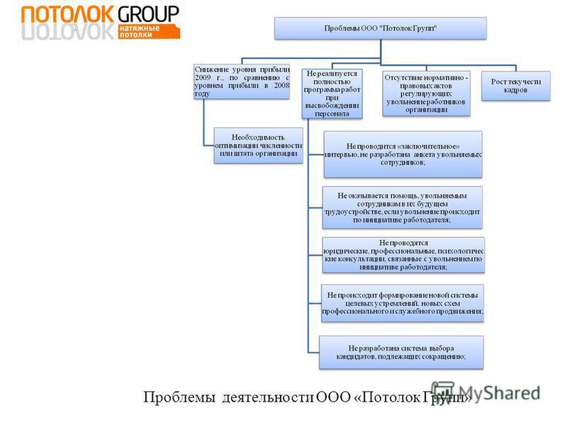 Проблемы деятельности ООО «Потолок Групп»