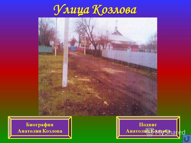 Биография Анатолия Козлова Анатолия Козлова Подвиг Анатолия Козлова Анатолия Козлова