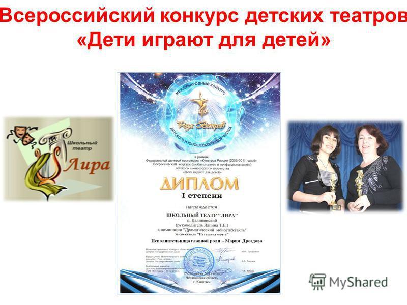 Всероссийский конкурс детских театров «Дети играют для детей»