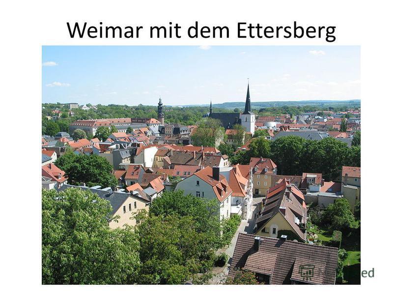 Weimar mit dem Ettersberg