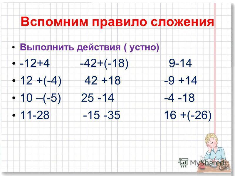 Основные темы 1. Правило сложения положительных и отрицательных чисел. 2. Нахождения расстояния между точками координатной прямой. 3. Числовые промежутки.