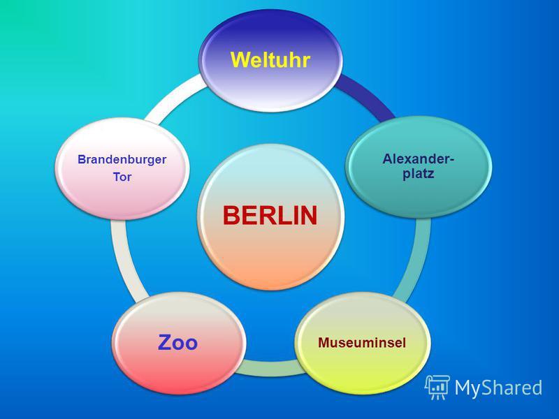 BERLIN Weltuhr Alexander- platz Museuminsel Zoo Brandenburger Tor