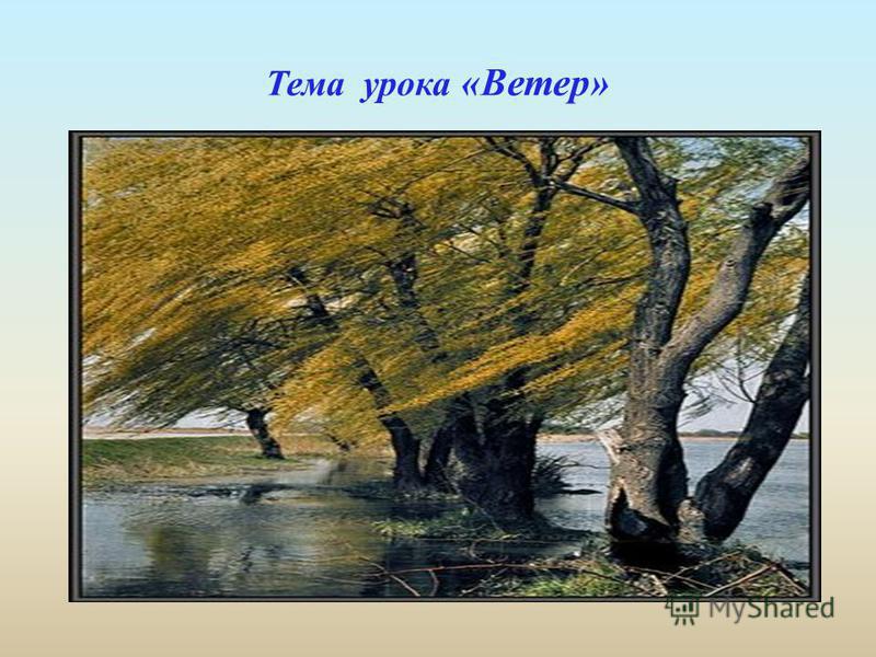 Тема урока «Ветер»