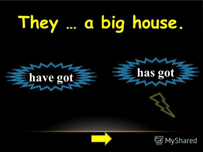 They … a big house. have got has got