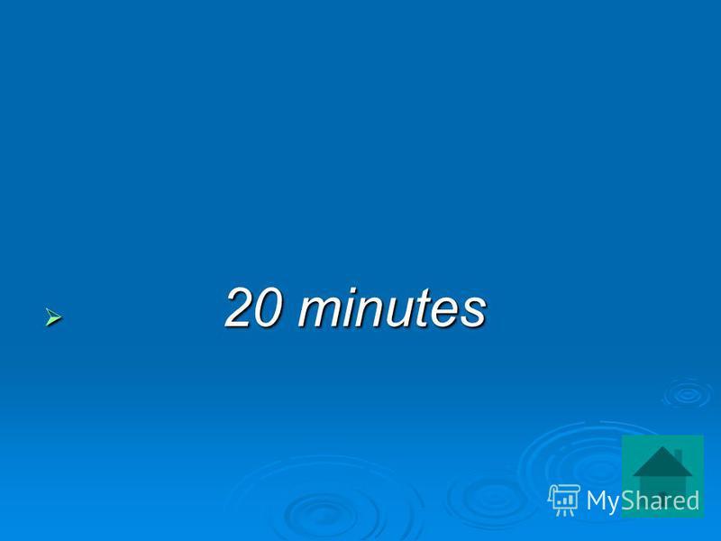 20 minutes 20 minutes