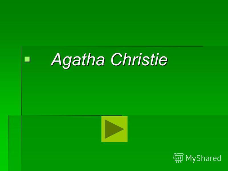 Agatha Christie Agatha Christie