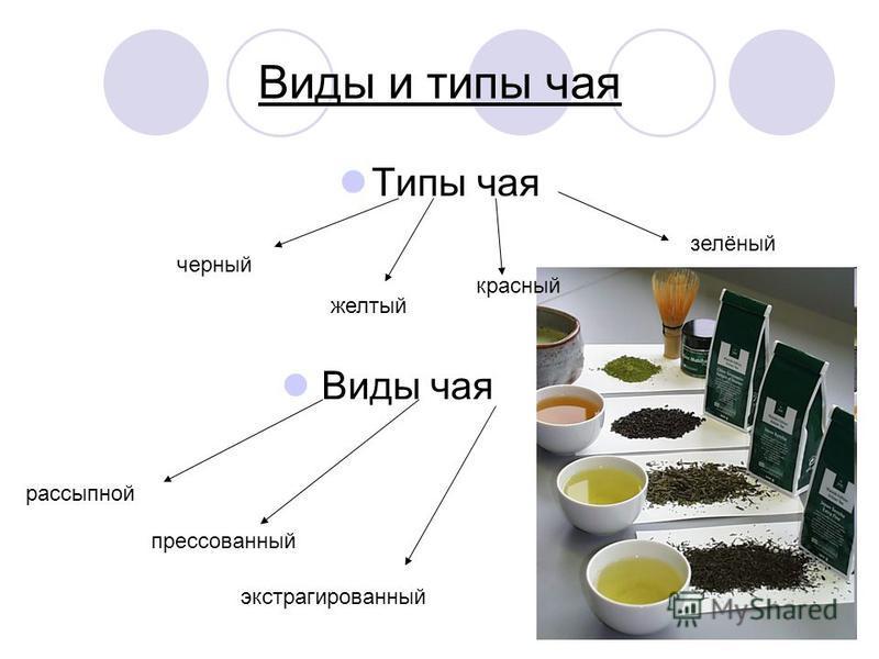 Виды и типы чая Типы чая черный желтый красный зелёный Виды чая рассыпной прессованный экстрагированный