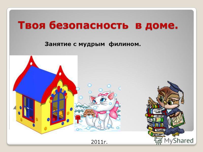 Твоя безопасность в доме. 2011 г. Занятие с мудрым филином.