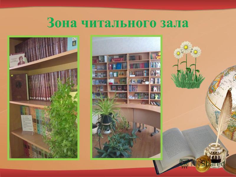 Зона читального зала