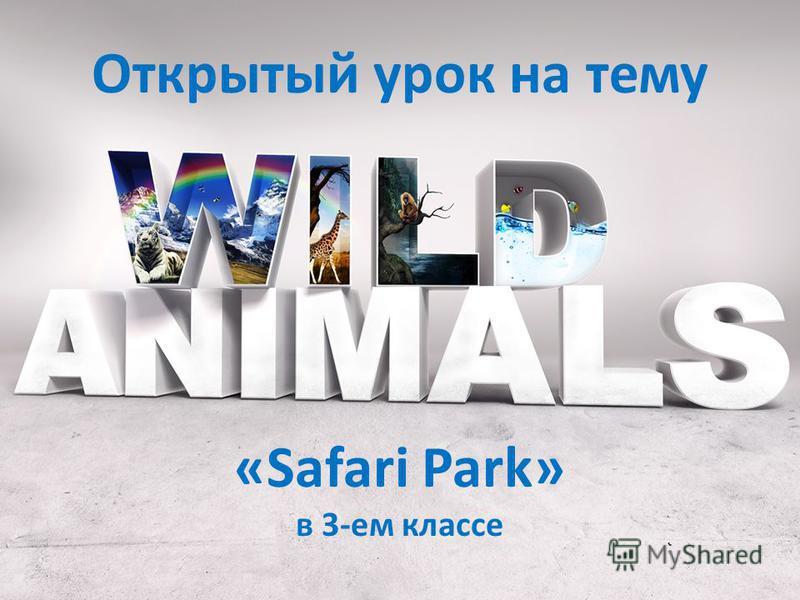 Открытый урок на тему «Safari Park» в 3-ем классе