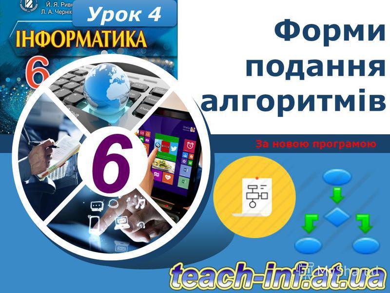 6 За новою програмою Урок 4 Форми подання алгоритмів