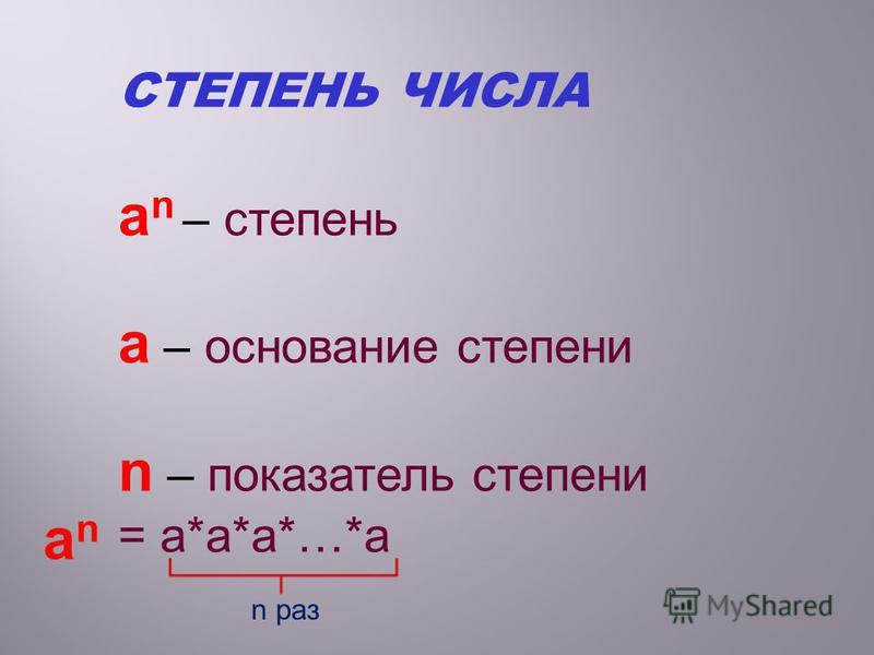 5 ˑ 5 = 5² 5 ˑ 5 ˑ 5 = 5³ 5 ˑ 5 ˑ 5 ˑ 5 =