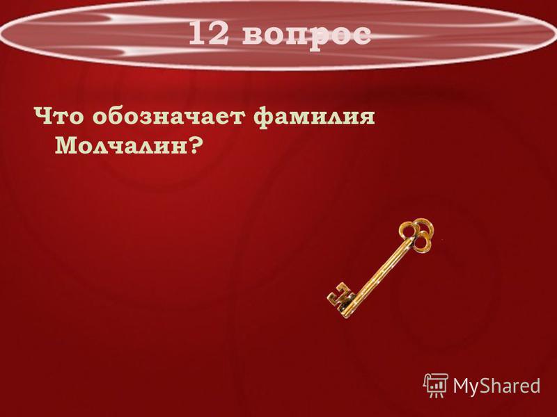 12 вопрос Что обозначает фамилия Молчалин?
