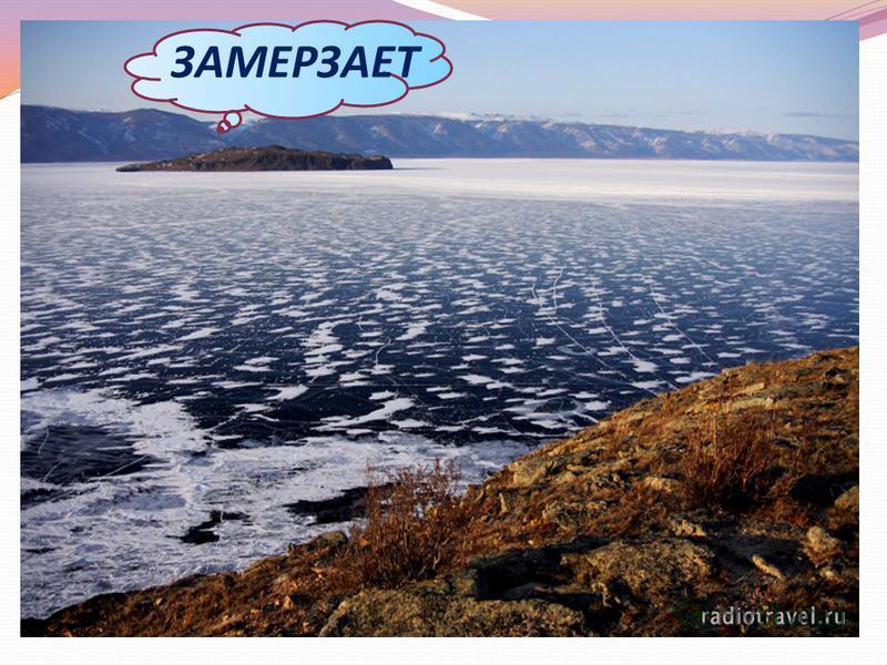 Лёд нарастает по 4-5 см в сутки; Чем > снега, тем тоньше лёд; Торосы высотой 1,5 – 3 м; Лёд = 50 см выдерживает 15 т; Прозрачный лёд; Любители кататься на буерах. ЗАМЕРЗАЕТ