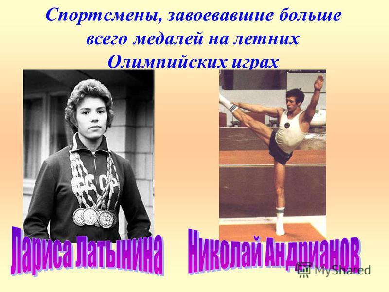 Спортсмены, завоевавшие больше всего медалей на летних Олимпийских играх