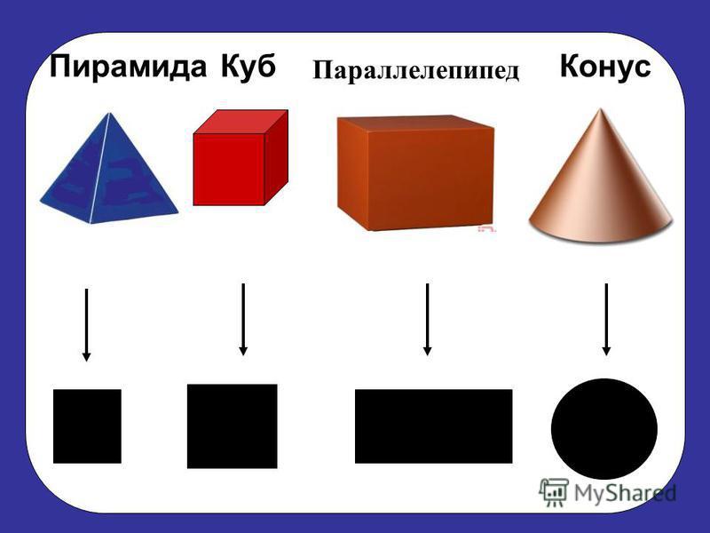 Конус Пирамида Параллелепипед Куб