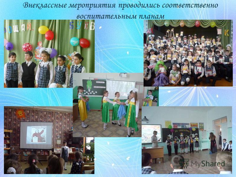 Внеклассные мероприятия проводились соответственно воспитательным планам