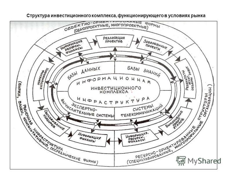 Структура инвестиционного комплекса, функционирующего в условиях рынка