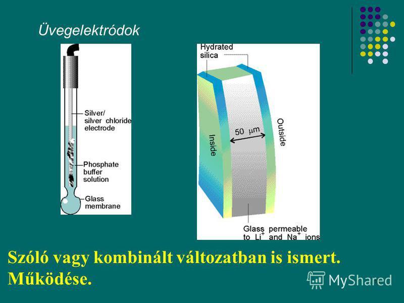 13 Üvegelektródok Szóló vagy kombinált változatban is ismert. Működése.