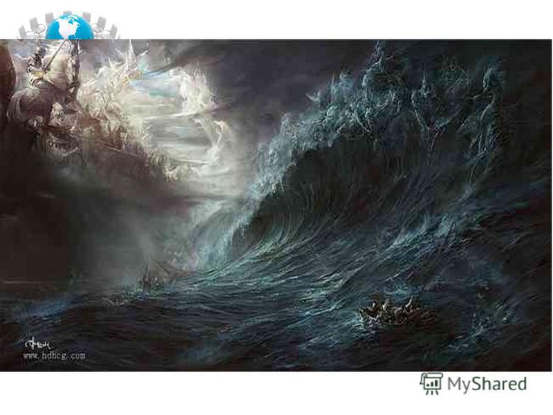 Моє пробудження благословили шквали. Мов корок, танцював я на морських валах, Що їх візничими утоплених прозвали, I десять діб вогнів не бачив по ночах. В сосновий корпус мій текла вода зелена, Солодка, як малим кисличний сік, вона, Відкинувши убік і