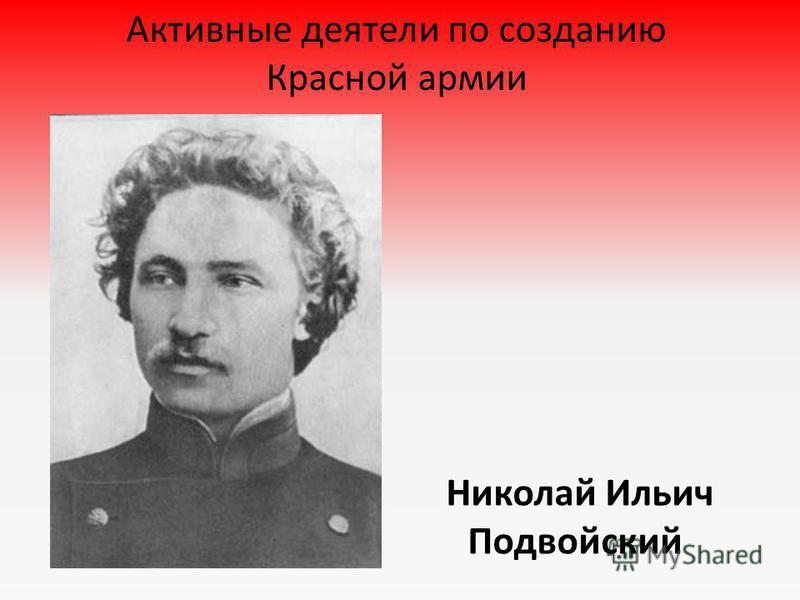 Николай Ильич Подвойский Активные деятели по созданию Красной армии