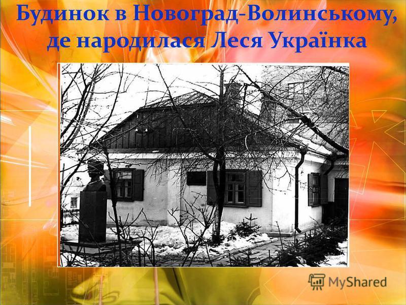 Будинок в Новоград-Волинському, де народилася Леся Українка