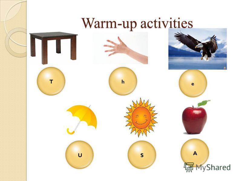 Warm-up activities TeSAhU