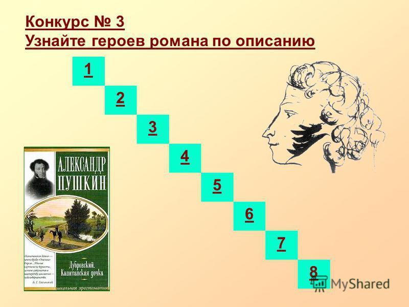 Конкурс 3 Узнайте героев романа по описанию 1 2 3 4 5 6 7 8