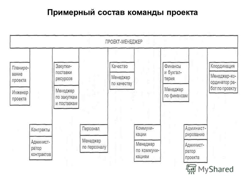 Примерный состав команды проекта