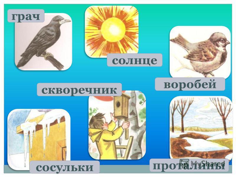 Картинки для детей сосульки весной