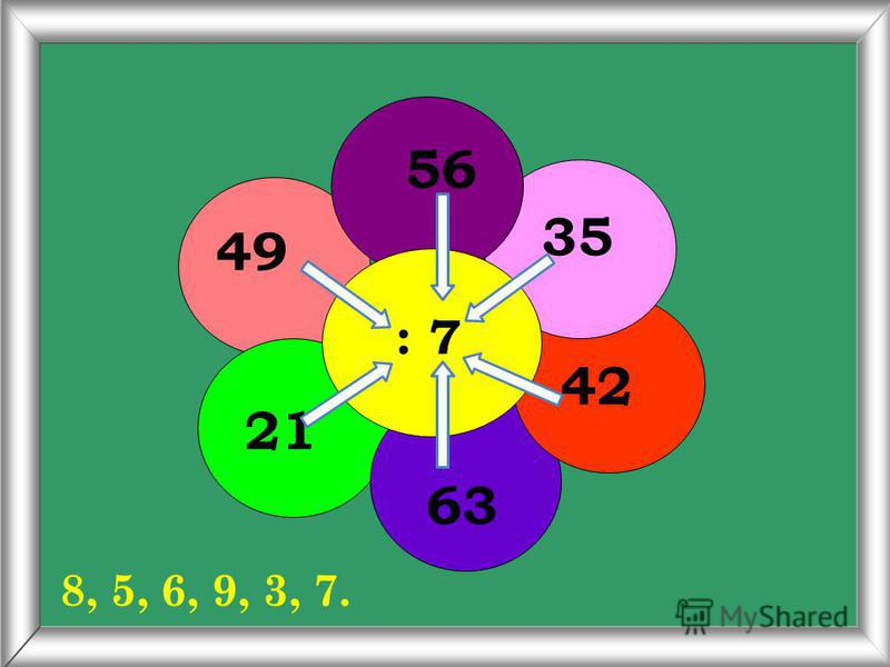 6 х 3 8 6 4 7 9 18, 48, 36, 24, 42, 54.