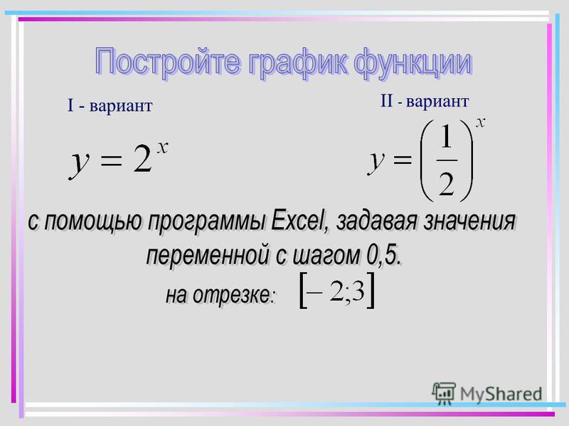 I - вариант II - вариант