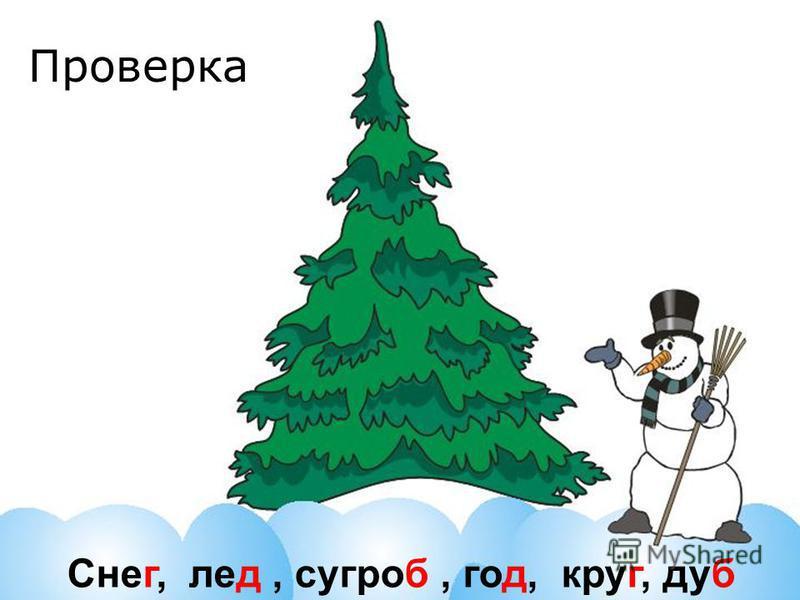 Снег, лед, сугроб, год, круг, дуб Проверка