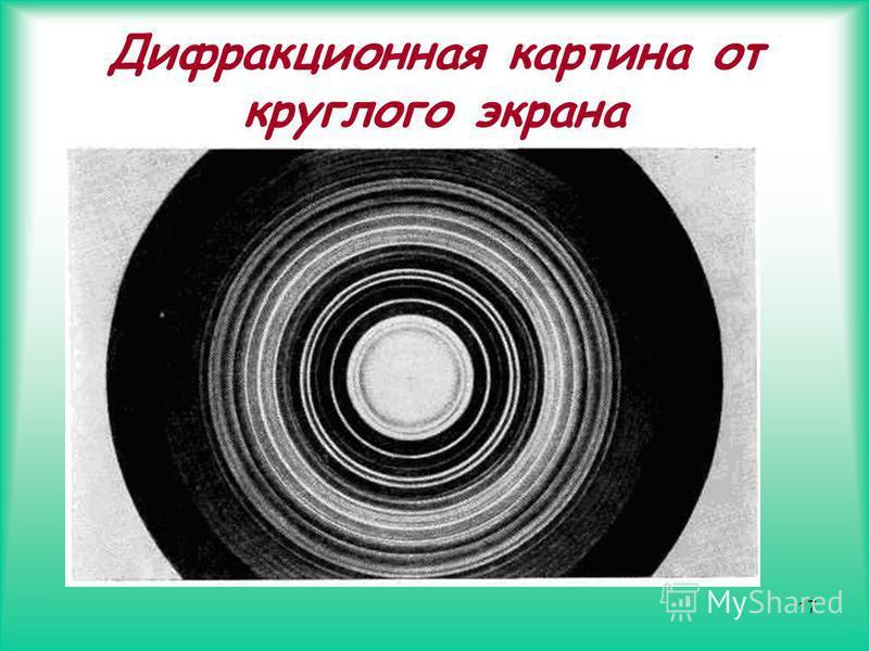 17 Дифракционная картина от круглого экрана