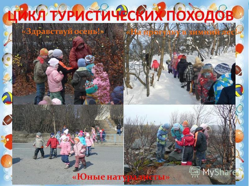 ЦИКЛ ТУРИСТИЧЕСКИХ ПОХОДОВ «Здравствуй осень!» «На прогулку в зимний лес!» «Юные натуралисты»