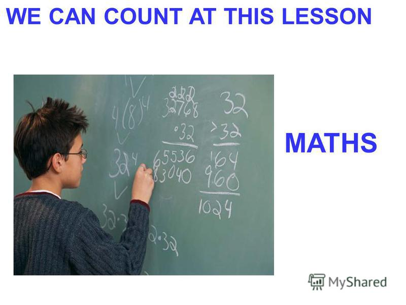 WE CAN COUNT AT THIS LESSON MATHS