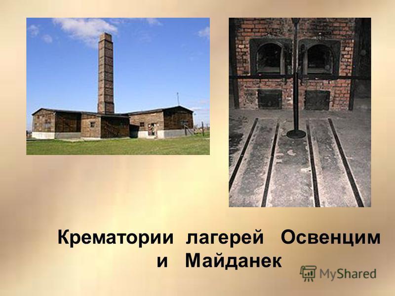 Крематории лагерей Освенцим и Майданек