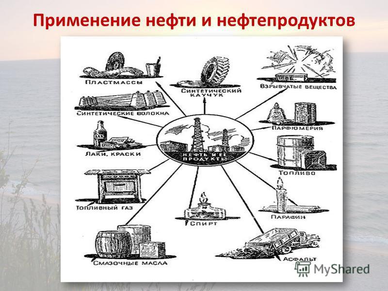 Применение нефти и нефтепродуктов