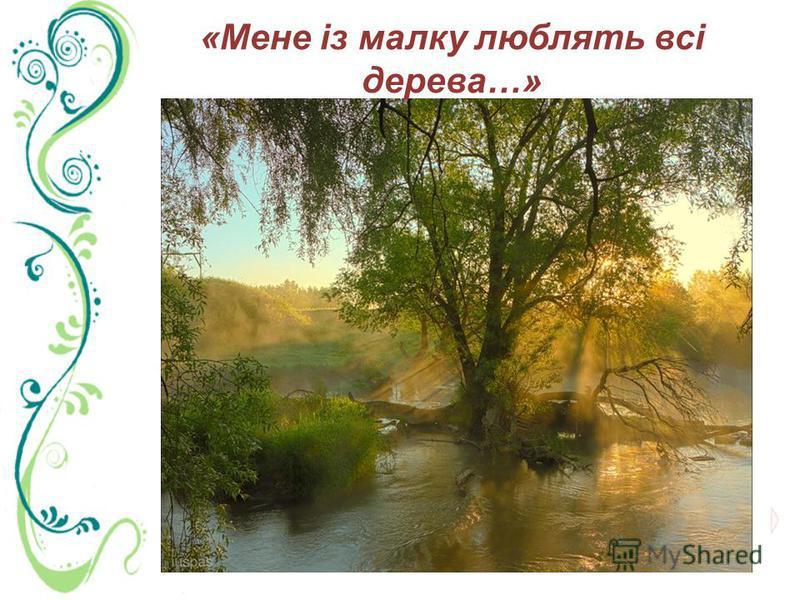 «Мене із малку люблять всі дерева…»