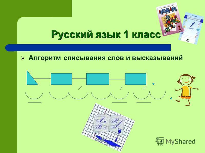 Русский язык 1 класс Алгоритм списывания слов и высказываний