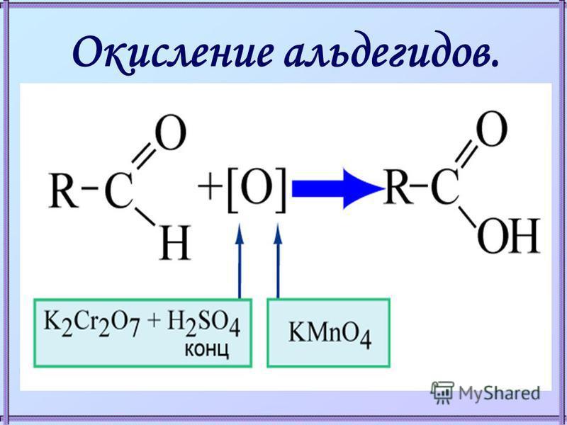 Окисление альдегидов.