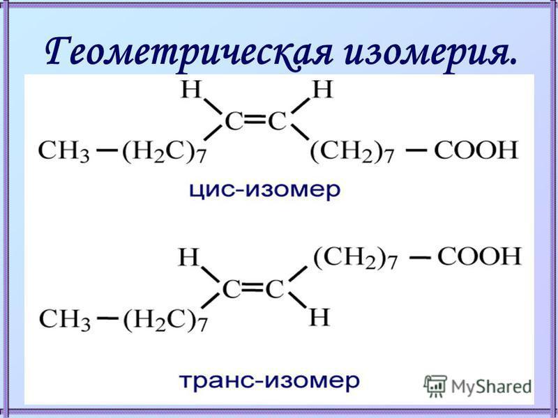 Геометрическая изомерия.