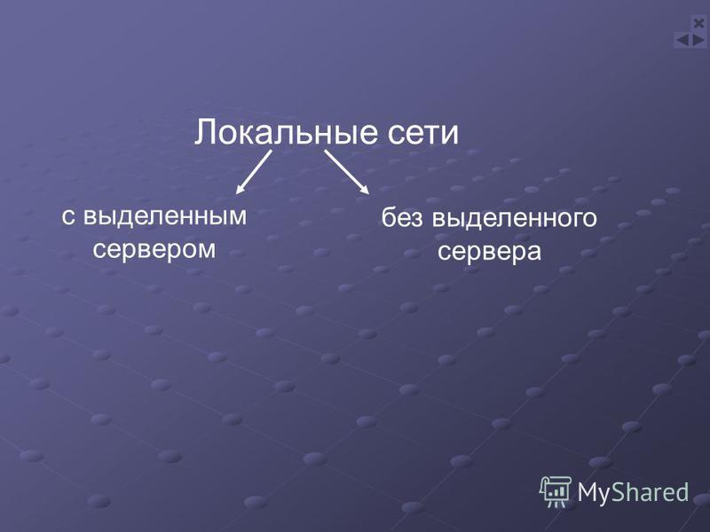 Локальные сети с выделенным сервером без выделенного сервера