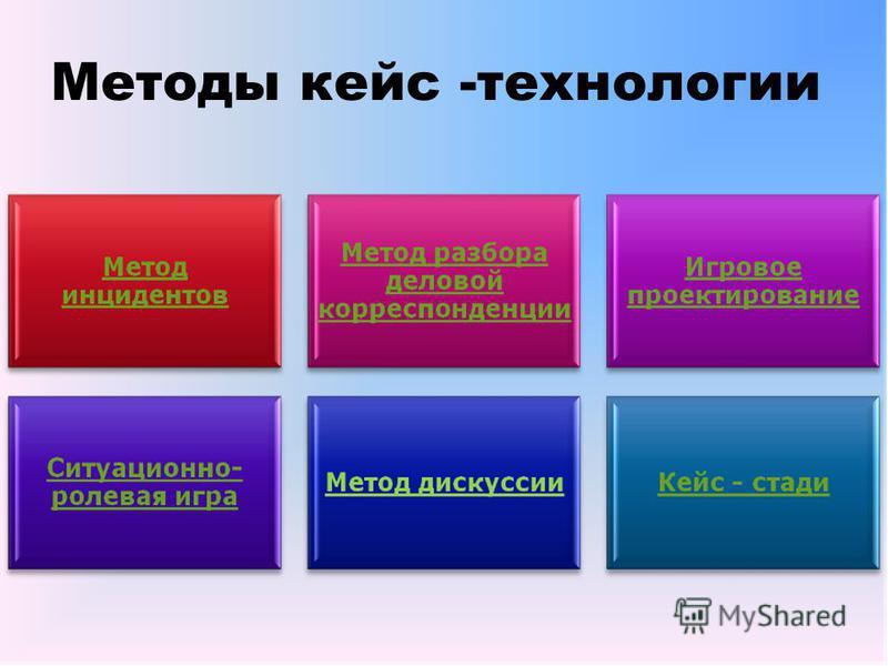 Методы кейс -технологии
