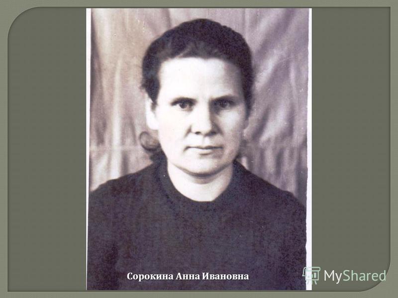 Сорокина Анна Ивановна