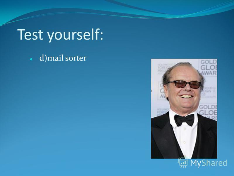Test yourself: d)mail sorter