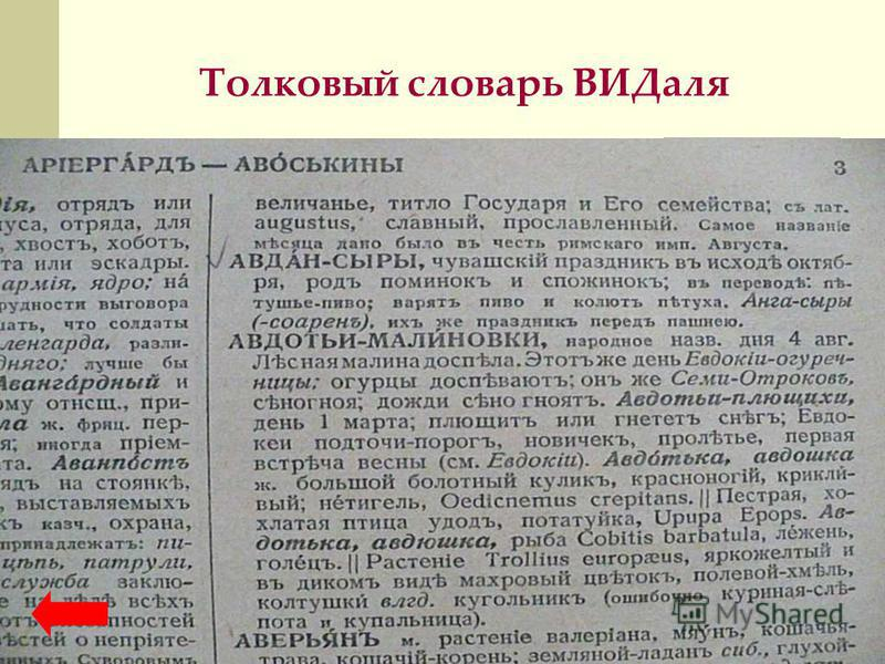 Толковый словарь ВИДаля