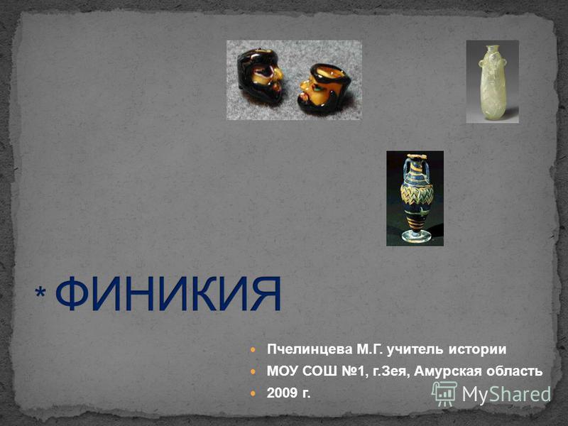 Пчелинцева М.Г. учитель истории МОУ СОШ 1, г.Зея, Амурская область 2009 г.