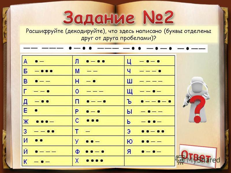 Расшифруйте (декодируйте), что здесь написано (буквы отделены друг от друга пробелами)?