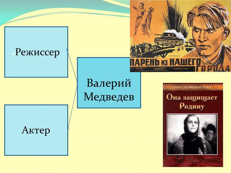 Валерий Медведев е Режиссер Актер